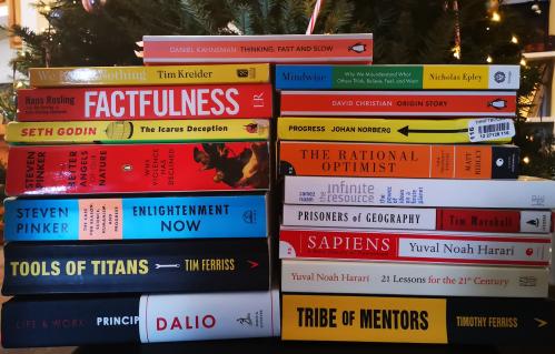 Her er et udpluk af mine yndlingsbøger fra 2010'erne. (Foto: Malene Elizabeth Staal Bruun Overgaard).